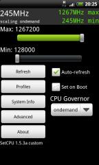 HTC Desire Overclock