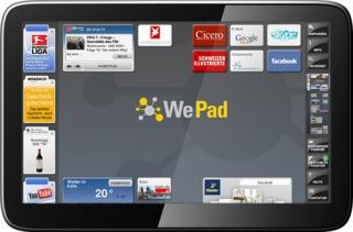 WePad - WLAN für 449 Euro // WePad - UMTS für 569 Euro
