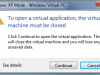 Windows XP Mode VM Close
